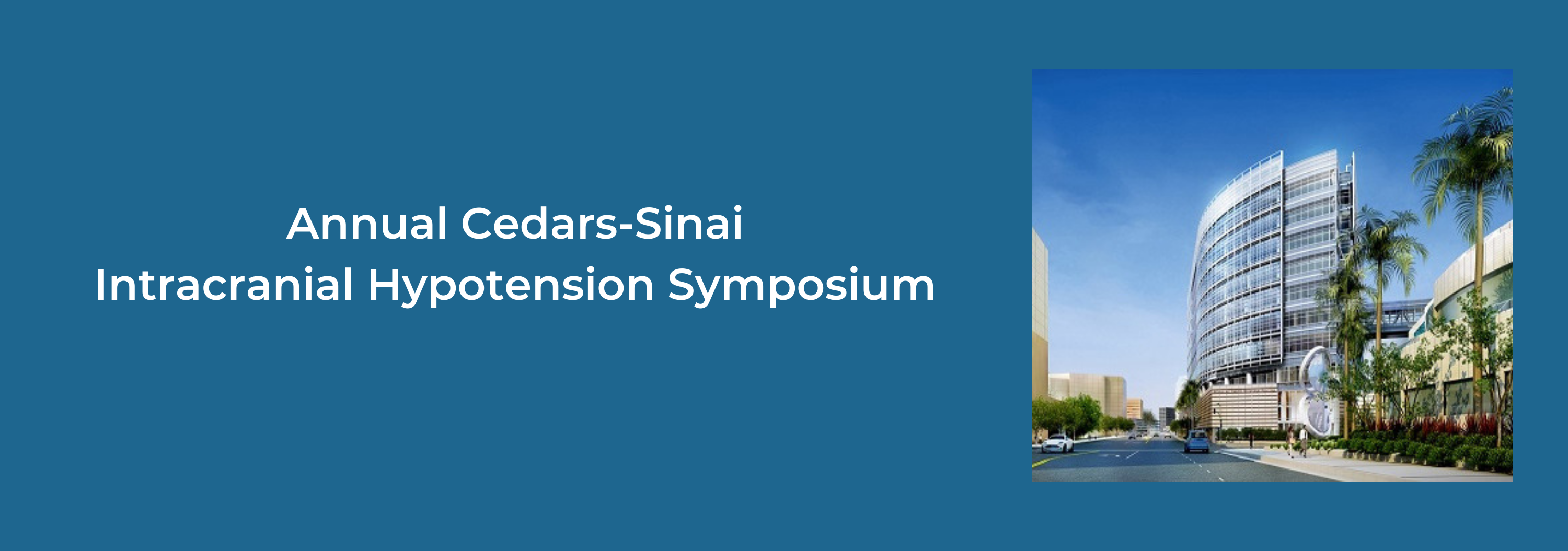 3rd Annual Intracranial Hypotension Conference Banner