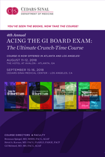 4th Annual GI Board Exam  - Los Angeles 2018 Banner