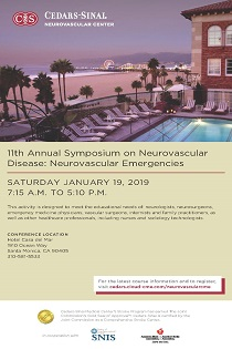 11th Annual Neurovascular Symposium: Neurovascular Emergencies 2019 Banner