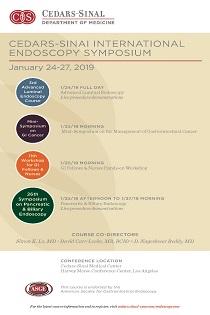 Cedars-Sinai International Endoscopy Symposium 2019 Banner