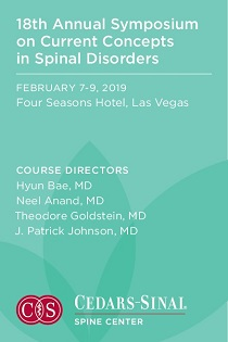 18th Annual Symposium on Current Concepts in Spinal Disorders Banner